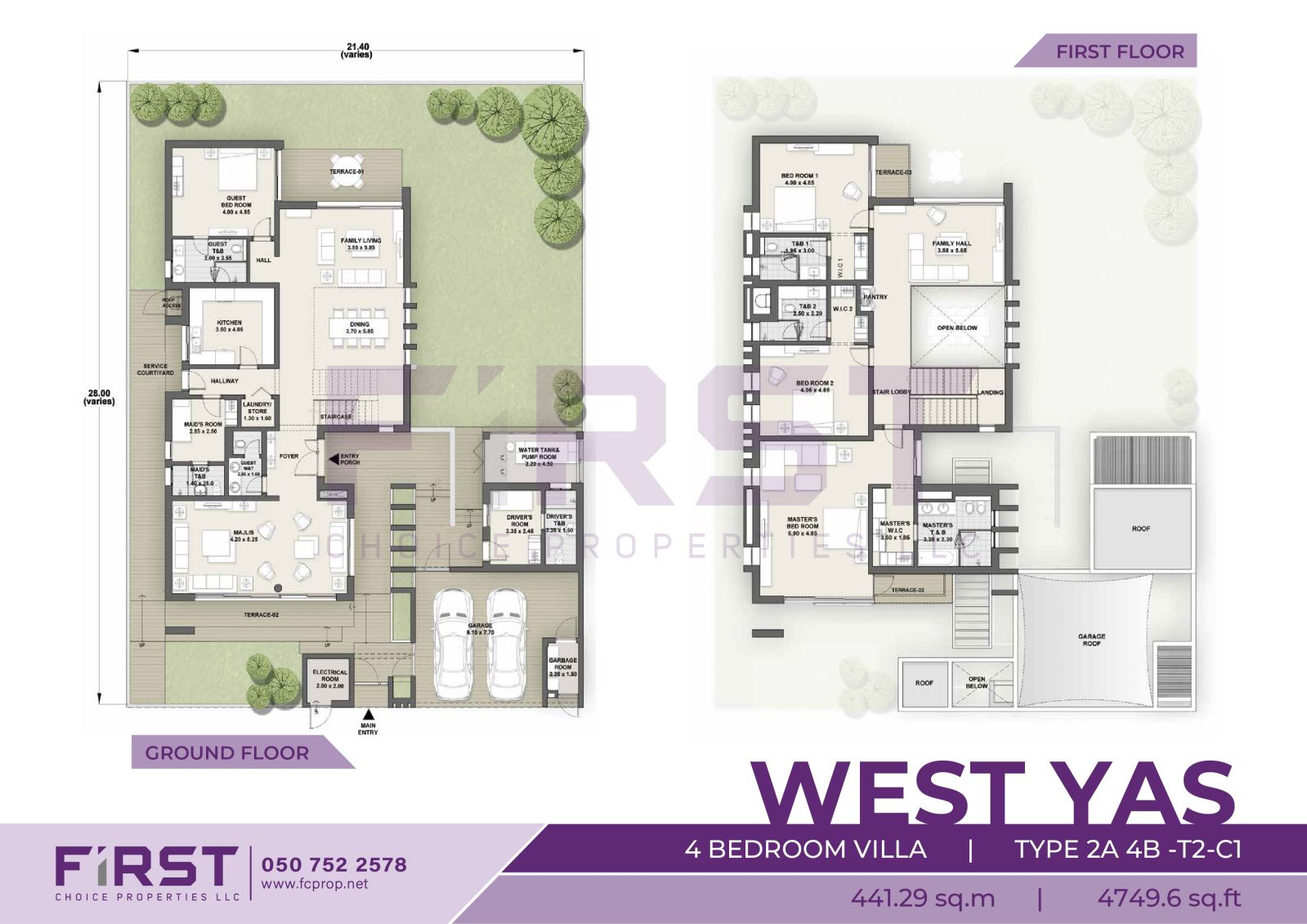 Yas Island West Yas 4 Bedroom VIlla TYPE 2A 4B-T2-C1 441.29 sq.m 4749.6 sq.ft.jpg