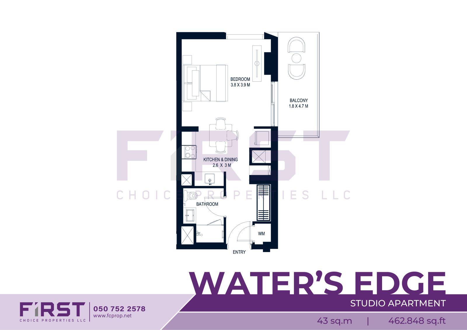 Yas Island Water's Edge Studio 43 sq.m 462.848 sq.ft .jpg