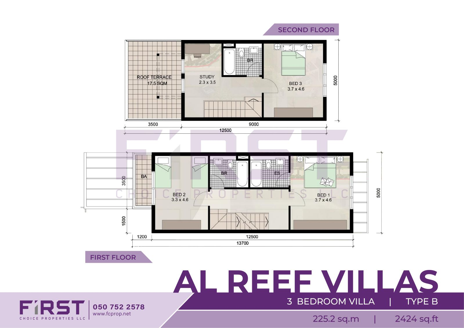 Floor Plan of 3 Bedroom Villa Type B in Al Reef Villas Al Reef Abu Dhabi UAE 225.2 sq.m 2424 sq.ft 1.jpg