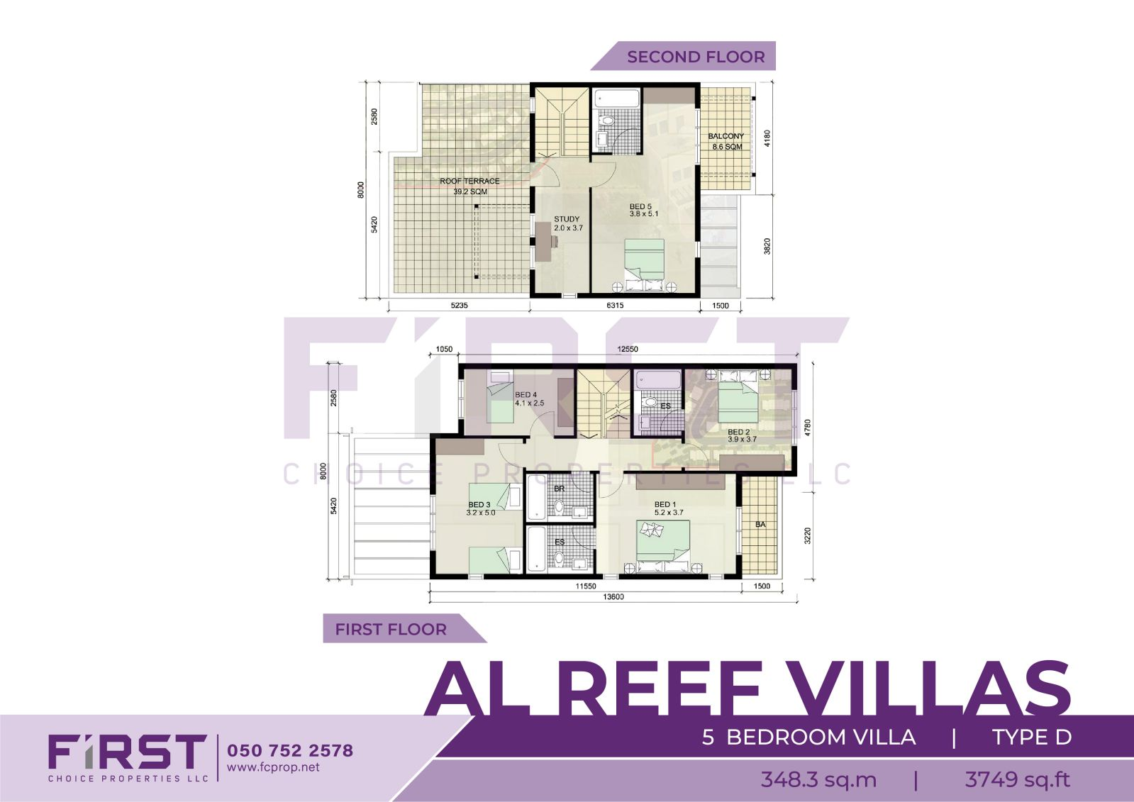 Floor Plan of 5 Bedroom Villa Type D in Al Reef Villas Al Reef Abu Dhabi UAE 348.3 sq.m 3749 sq.ft 1.jpg
