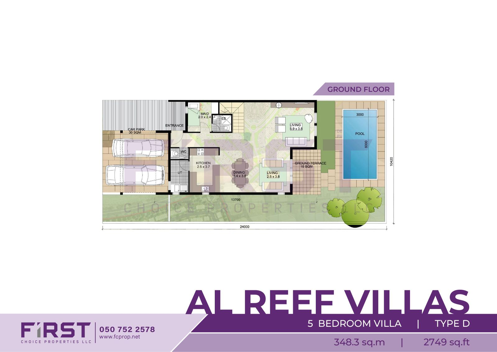 Floor Plan of 5 Bedroom Villa Type D in Al Reef Villas Al Reef Abu Dhabi Abu Dhabi UAE 348.3 sq.m 3749 sq.ft 2.jpg